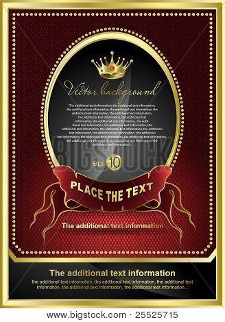 Vector background for design. Golden royal design element