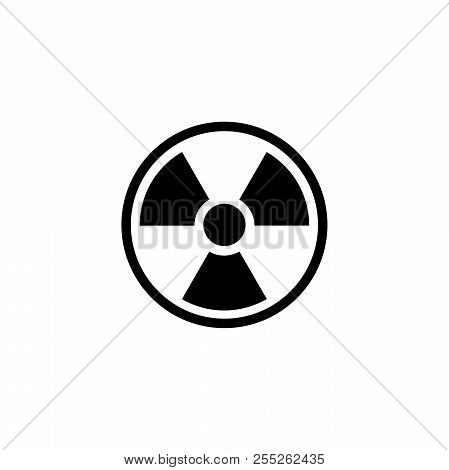 Radioactive Warning, Radiation. Flat Vector Icon Illustration. Simple Black Symbol On White Backgrou