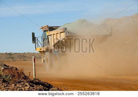 Dump Truck In An Active Mine - Australia