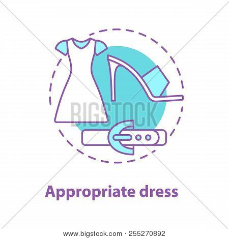 Holiday Wear Concept Icon. Appropriate Clothing Idea Thin Line Illustration. Holiday Dress, High Hee