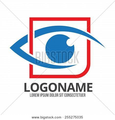 Eye Vector Logo Design Idea. Minimalist Logo Design Layout For Medical Care. Optician Creative Symbo