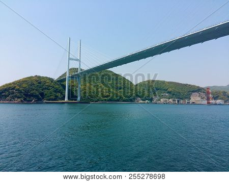 Japan Nagasaki City Megami Bridge Landmark Architecture