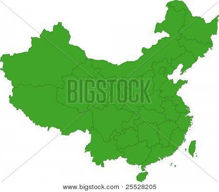 Green administrative divisions of China