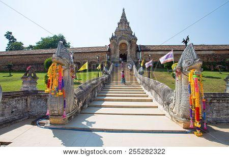 Lampang, Thailand February 21, 2017 - Wat Phra That Lampang Luang Temple, Lampang, Thailand, Asia