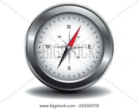 Vector Illustration of metal compass