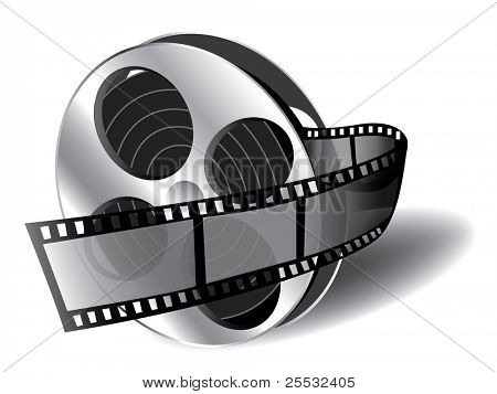 Illustration of filmstrip (icon of movie)