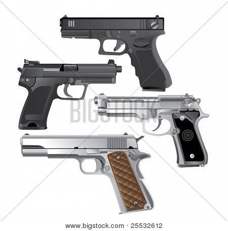 handgun, Pistol vector