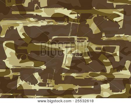 Weapon gun desert camouflage