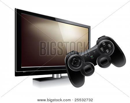 Gamepad and lcd television