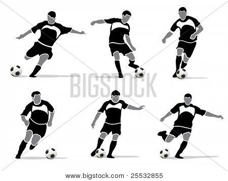 Soccer player vector