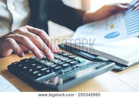 Business Man Accounting Calculating Cost Economic Cost