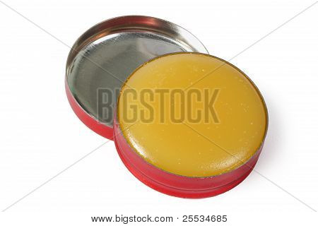 Box With A Cosmetic Cream, Isolated On White Background