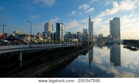 Ho Chi Minh City, Vietnam - 06, 2018: Beautiful Landscape Sunny Day Of Ho Chi Minh City Or Sai Gon.