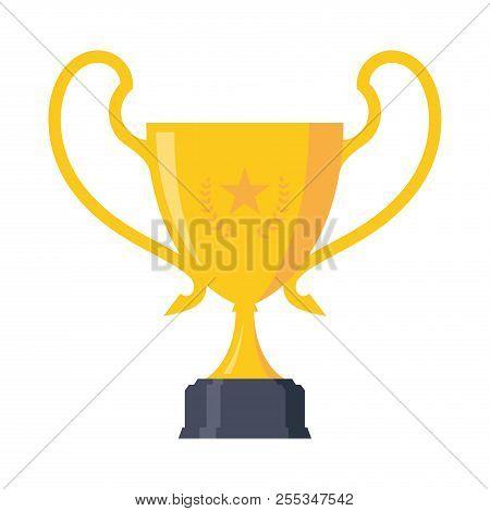 Stars Trophy Award Championship Achievement Design Element. Trophy Icon Modern Symbol For Graphic An