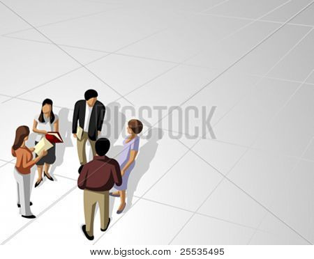 Group of business and office people