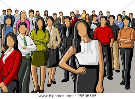 Gruppo di persone d'affari e ufficio