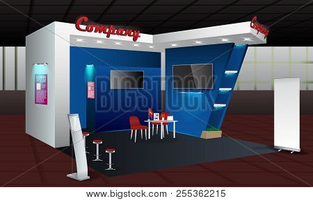 Exhibition Stand Free Vector : Exhibition stand vector & photo free trial bigstock