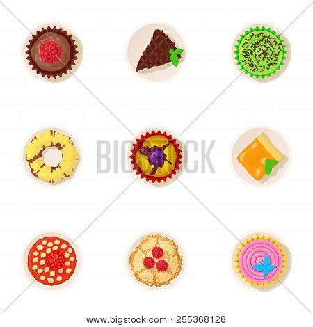 Palatable Icons Set. Cartoon Set Of 9 Palatable Vector Icons For Web Isolated On White Background