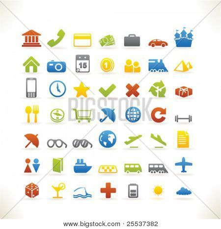 Set of beautiful vector web icons vol.4 Travel