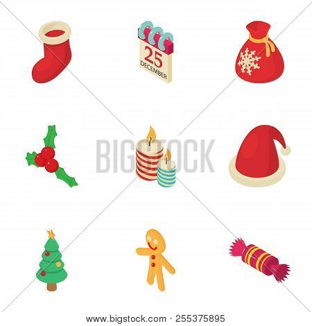 Christmas Fellowship Icons Set. Isometric Set Of 9 Christmas Fellowship Vector Icons For Web Isolate
