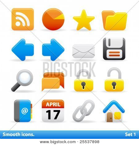 Vector smooth icons. Set 1