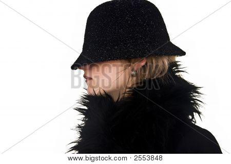 Incognito Woman In Black Hat