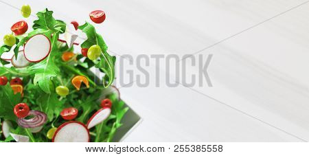 Fresh Salad With Tomatoes And Corn, 3d Render Illustration