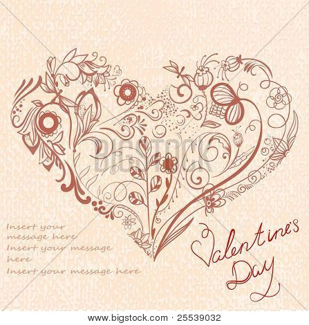 Beautiful greeting floral heart 2