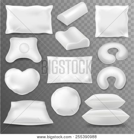 Pillow Vector Soft Pillow-block With White Pillowcase Or Blank Pillowslip Illustration Pillow-shaped