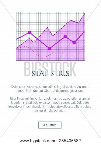 Statistics Data Representation In Form Of Graphic. Statistical Info Promotional Banner With Linear C