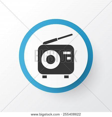 Radio Icon Symbol. Premium Quality Isolated Tuner Element In Trendy Style.
