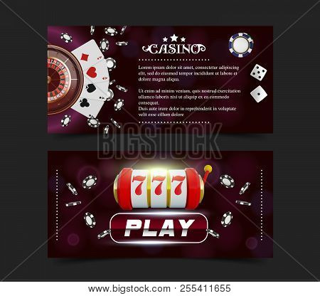 Casino Background Style Ace, Vip Flyer Invitation Poker Game. Casino Poster Or Banner Background Or