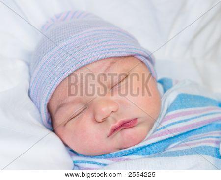 Newborn Sleeping In Hospital