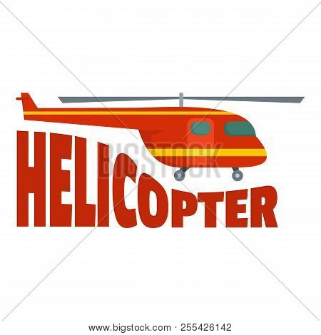 Rescue Helicopter Icon. Flat Illustration Of Rescue Helicopter Icon For Web Design