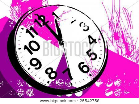 Background with wrist watch. Vector illustration.