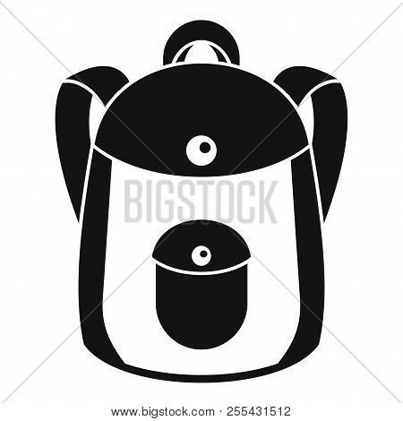 School Backpack Icon. Simple Illustration Of School Backpack Icon For Web Design Isolated On White B