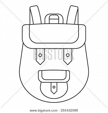 Backpack Icon. Outline Backpack Icon For Web Design Isolated On White Background