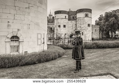 London, England, Uk - May 23, 2017: Yeomen Warders Of Tower Of London (beefeaters). Beefeaters Are C