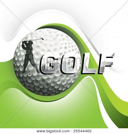 Designed golf background with stylized shapes. Vector illustration.