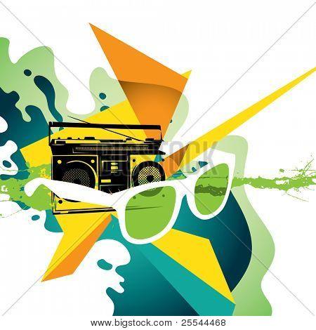 Illustrated modern designed colorful background. Vector illustration.