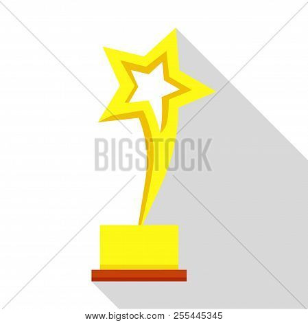 Star Trophy Icon. Flat Illustration Of Star Trophy Icon For Web