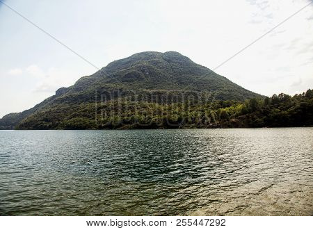 Lake With Mountain On The Back