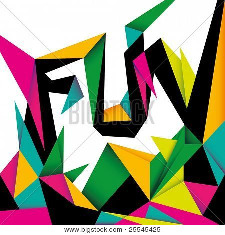 Modish fun background with abstraction. Vector illustration.