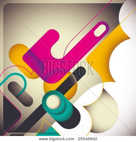 Modish abstraction with creative design. Vector illustration.