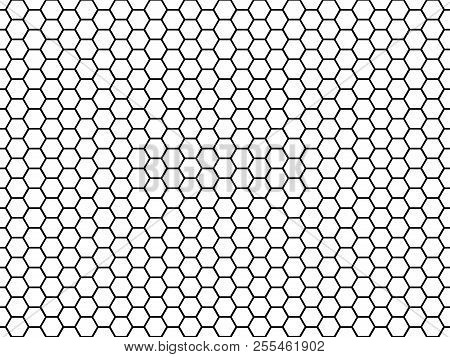 Hexagonal Cell Texture. Honey Hexagon Cells, Honeyed Comb Grid Texture And Honeycombs Fabric Seamles