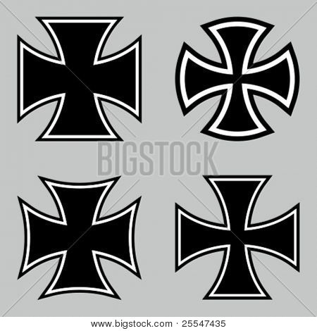 Choppers crosses. Vector illustration.