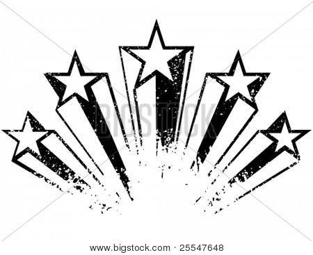 Shooting stars. Vector illustration.