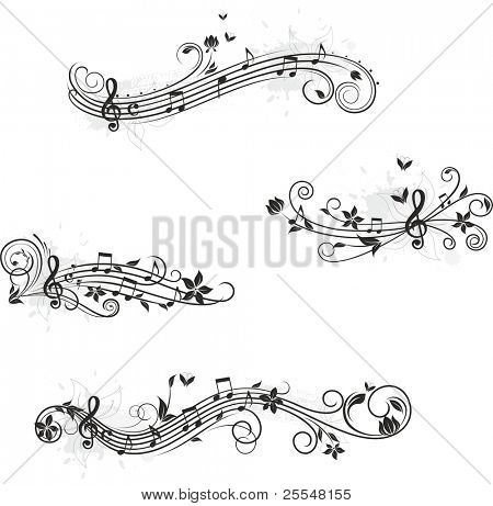 Music set of design elements