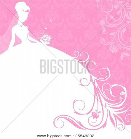 beautiful bride in pink banner