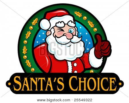 Santa's Choice Seal in vectors